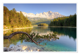 Poster Premium  At the Eibsee in Bavaria - Michael Valjak
