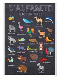 Poster Premium  Alfabeto degli animali - Kidz Collection