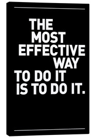 Stampa su tela  The most effective way to do it, is to do it - THE USUAL DESIGNERS