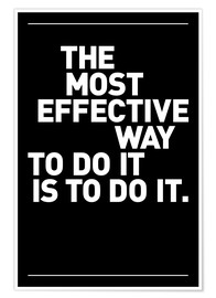 Poster  Lavoro - The most effective way to do it, is to do it - THE USUAL DESIGNERS