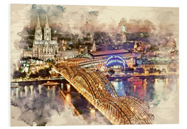 Stampa su PVC  Cologne Skyline Cologne Cathedral - Peter Roder