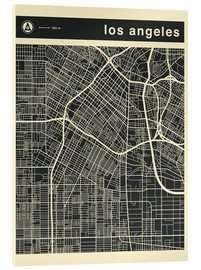 Stampa su vetro acrilico  Los Angeles City map - Jazzberry Blue
