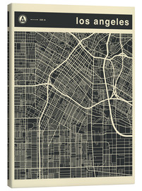 Stampa su tela  Los Angeles City map - Jazzberry Blue