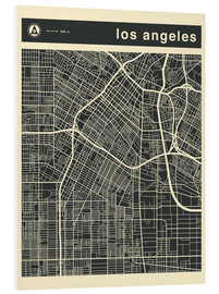 Schiuma dura  Los Angeles City map - Jazzberry Blue