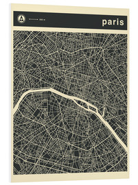 Forex  PARIS CITY MAP - Jazzberry Blue