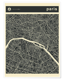 Jazzberry Blue - PARIS CITY MAP