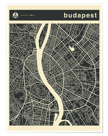 Jazzberry Blue - Budapest City Map