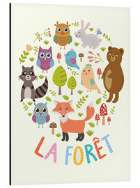 Stampa su alluminio  La foresta - francese - Kidz Collection