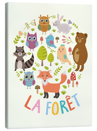Tela  La foresta - francese - Kidz Collection