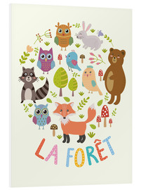 Stampa su schiuma dura  La foresta - francese - Kidz Collection