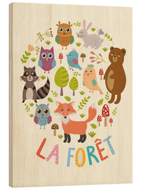 Stampa su legno  La foresta - francese - Kidz Collection