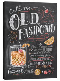 Stampa su tela  Ricetta Old Fashioned (in inglese) - Lily & Val
