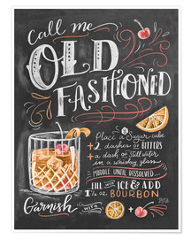Poster Premium  Ricetta Old Fashioned (in inglese) - Lily & Val