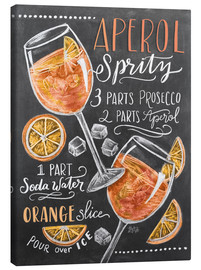 Stampa su tela  Ricetta Aperol Spritz (in inglese) - Lily & Val