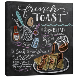 Stampa su tela  Ricetta french toast (in inglese) - Lily & Val