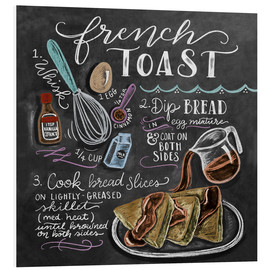 Stampa su PVC  Ricetta french toast (in inglese) - Lily & Val