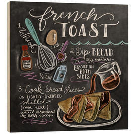 Stampa su legno  Ricetta french toast (in inglese) - Lily & Val