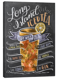 Stampa su tela  Ricetta Long Island Iced Tea (inglese) - Lily & Val
