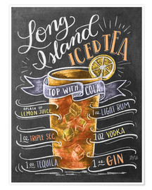 Poster Premium  Ricetta Long Island Iced Tea (inglese) - Lily & Val