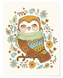 Poster  Autumn owl - Kidz Collection