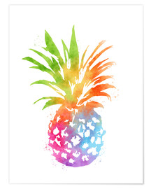 Poster Premium  Ananas colorato - Mod Pop Deco
