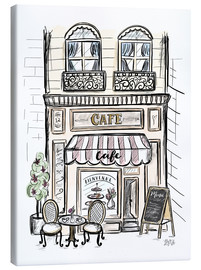 Tela  French Shop Front - Café - Lily & Val