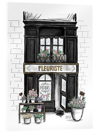 Vetro acrilico  French Shop Front - Fleuriste - Lily & Val