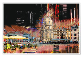 Poster Premium  The new old Fauenkirche in Dresden - Peter Roder