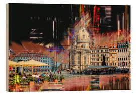 Stampa su legno  The new old Fauenkirche in Dresden - Peter Roder