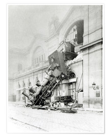 Poster Premium  Train accident at the Gare Montparnasse in Paris on 22nd October 1895