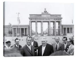 Stampa su tela  Ludwig Erhard and Willy Brandt