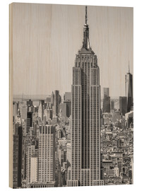 Stampa su legno  Skyline di New York City dall'alto
