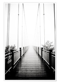 Poster  Wooden bridge in fog