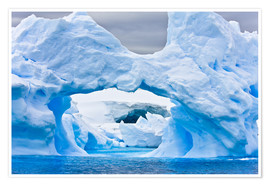 Poster Premium  Large Arctic iceberg with a cavity inside