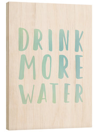 Stampa su legno  More drink - Typobox
