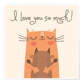 Poster Premium  Cats love - Kidz Collection