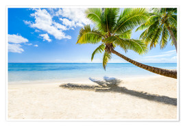 Poster Premium  Palm beach and sea in summer vacation - Jan Christopher Becke