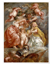 Poster Premium  The Union of England and Scotland (Charles I as the Prince of Wales) - Peter Paul Rubens