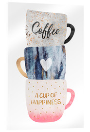 Vetro acrilico  A cup of happiness - Elisabeth Fredriksson