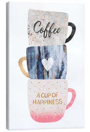 Stampa su tela  A cup of happiness - Elisabeth Fredriksson