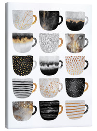Tela  Pretty Coffee Cups 3   White - Elisabeth Fredriksson