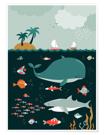 Poster Premium  The world under water - Kidz Collection