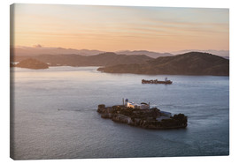 Tela  Alcatraz island in the bay of San Francisco - Matteo Colombo