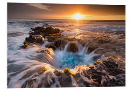Stampa su PVC  Pools of Paradise during Sunset at the Coast of Hawaii (Big Island) - Markus Ulrich
