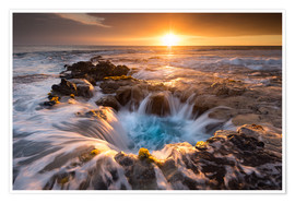 Poster Premium  Pools of Paradise during Sunset at the Coast of Hawaii (Big Island) - Markus Ulrich