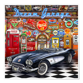 Poster Premium Dream Garage