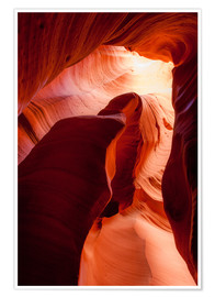 Poster Premium  Formation in Canyon X slot canyon, Page, Arizona, USA - Peter Wey