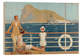 Stampa su legno  Gibraltar - Charles Pears