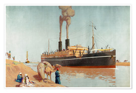 Poster Premium  Suez canal - Charles Pears