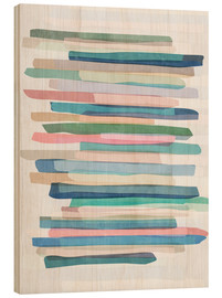 Legno  Pastel Stripes 1 - Mareike Böhmer Graphics